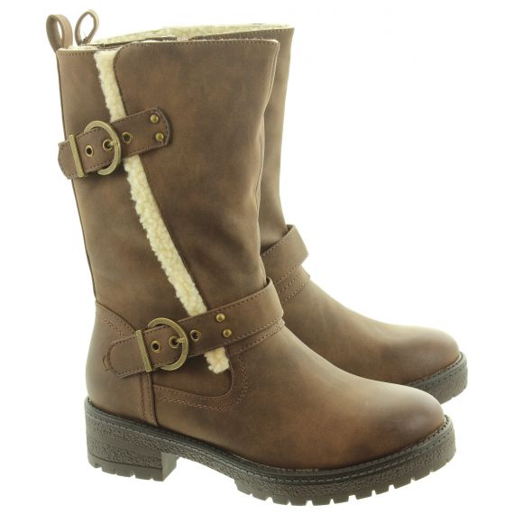 HEAVENLY FEET Ladies Bonnie Calf Boots In Brown