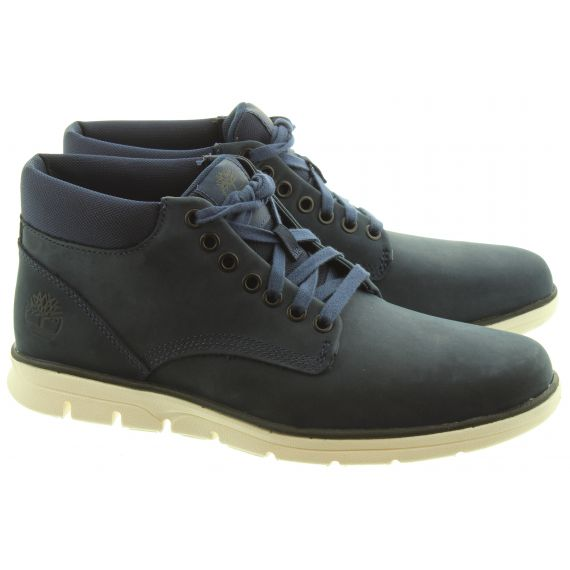 TIMBERLAND Mens Bradstreet Lace Boots In Navy Iris