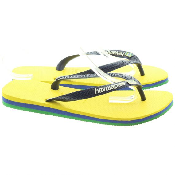 HAVAIANAS Mens Brasil Layers In Navy