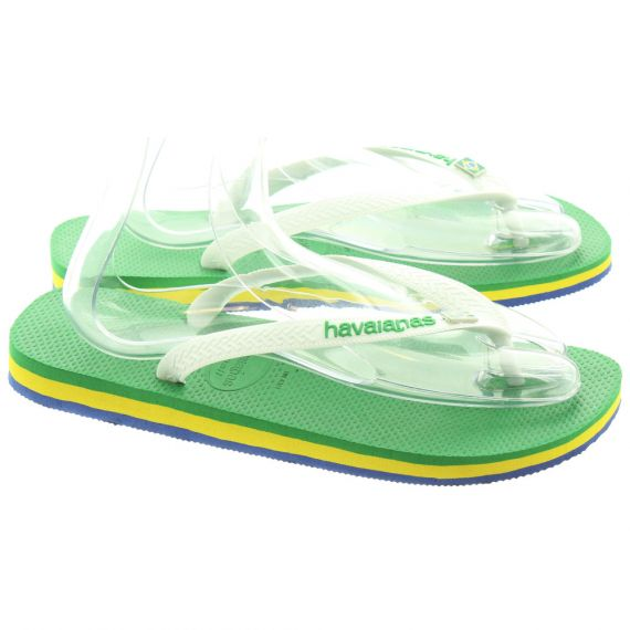 HAVAIANAS Mens Brasil Layers In White