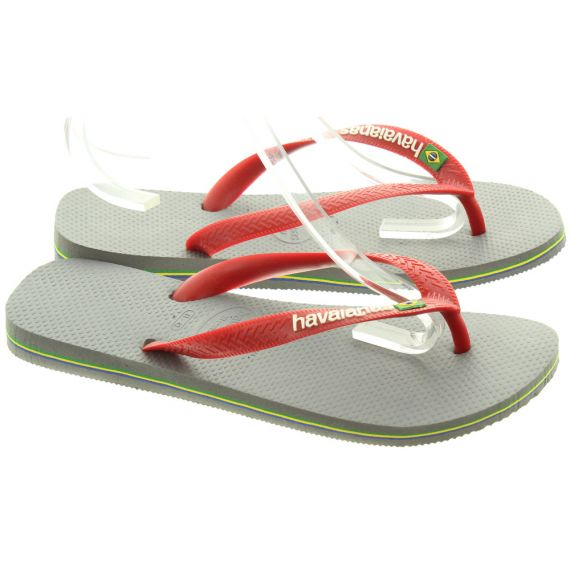 HAVAIANAS Brazil Logo Toe Post Sandals In Red