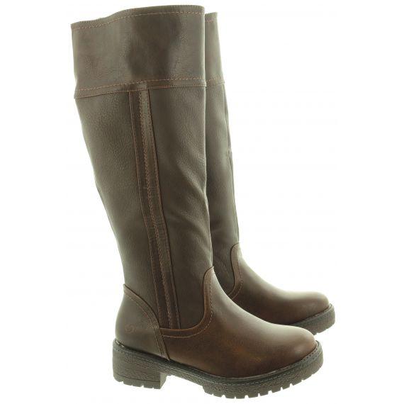 HEAVENLY FEET Ladies Burley 6 Knee Boots In Chocolate