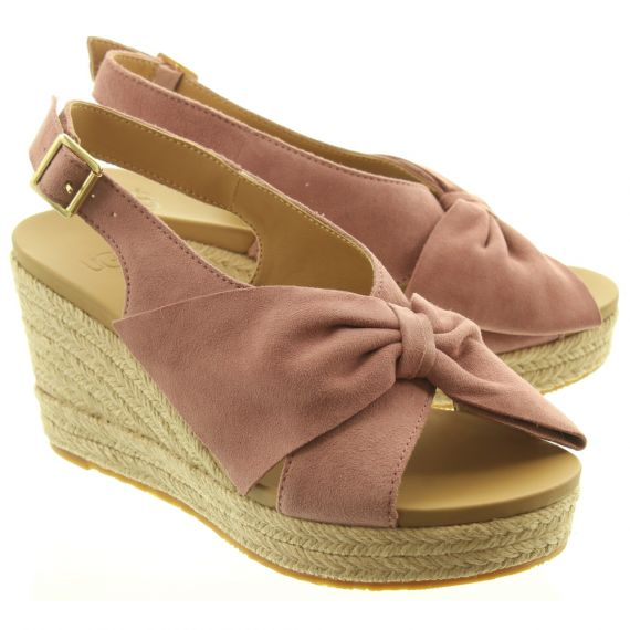 UGG Ladies Camilla Wedge Sandals In Pink