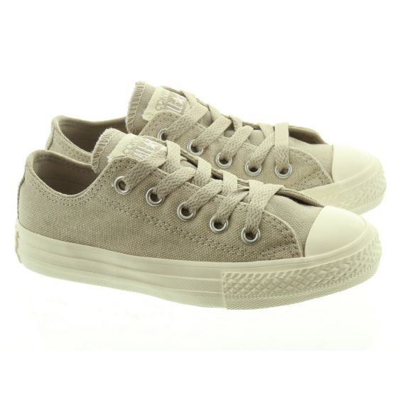 CONVERSE Canvas All Star Ox Kids Shoes In Beige