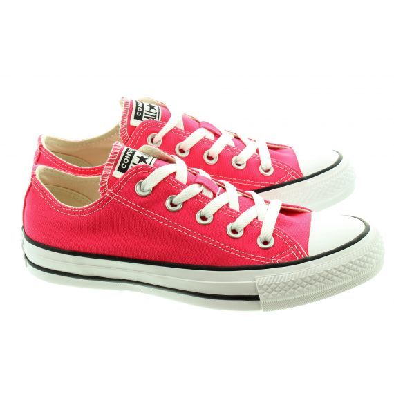 CONVERSE Canvas Allstar Ox Lace Shoes In Strawberry Jam