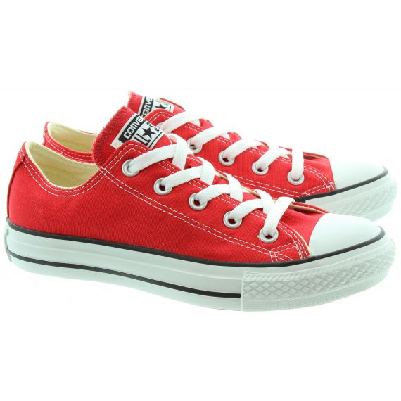 CONVERSE Canvas Allstar Ox Lace Shoes in Red