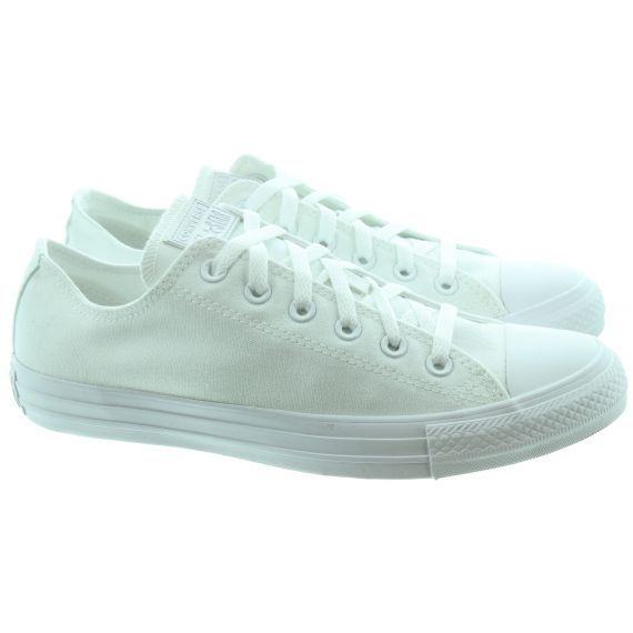 CONVERSE Canvas Allstar Ox Lace Shoes in White Mono