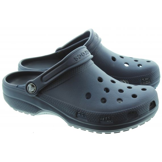 CROCS Cayman Classic Clogs in Navy