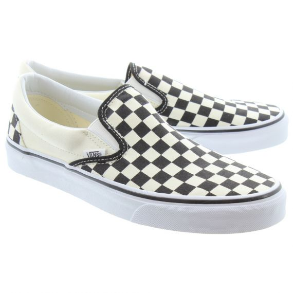 VANS Checkerboard Slip On Shoes In Black/White