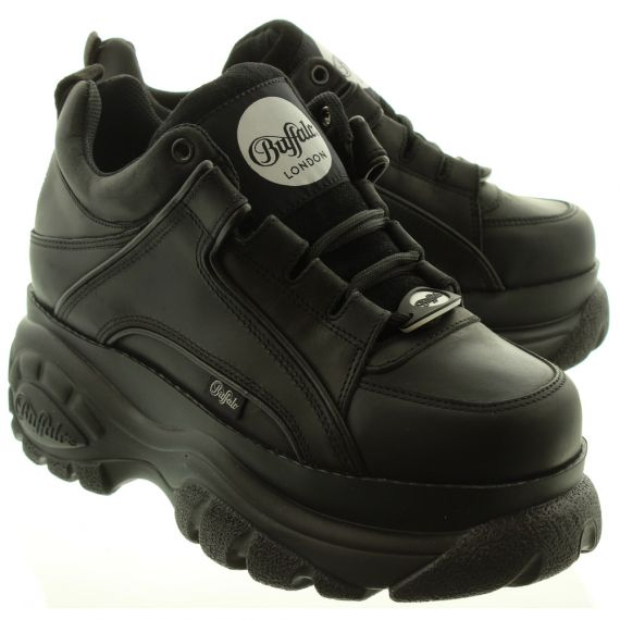 BUFFALO Ladies Classic Low Trainers In Black