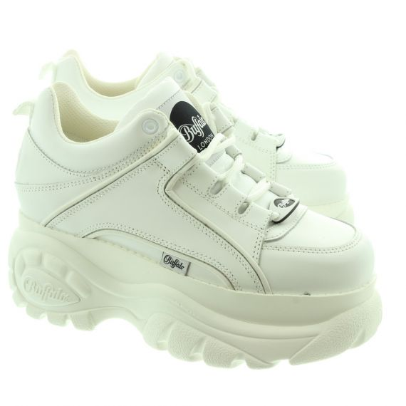 BUFFALO Ladies Classic Low Trainers In White