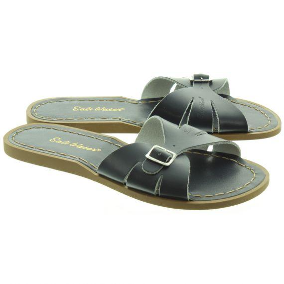 SALT WATER Ladies Classic Slide Sandals In Navy