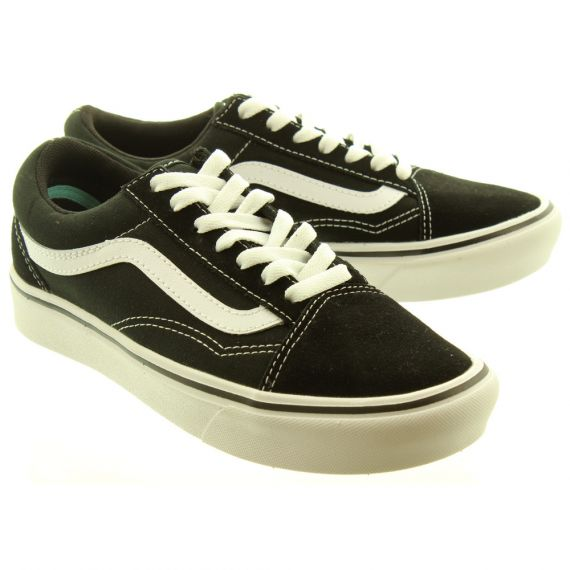 VANS Ladies ComfyCush Old Skool Trainers In Black And White