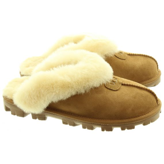 UGG Ladies Coquette Slippers In Chestnut