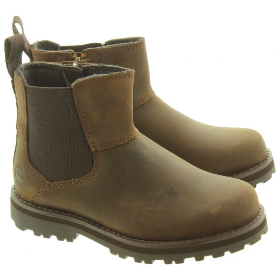 TIMBERLAND Kids Courma Chelsea Boots In Brown