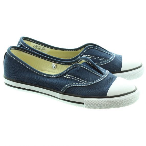 CONVERSE Cove Slip On Kids Shoes in Navy