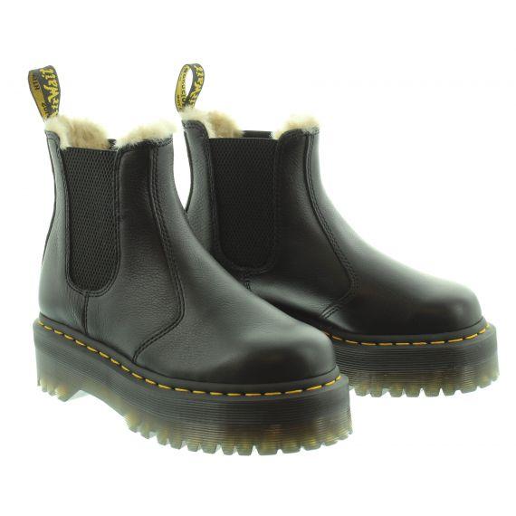 DR MARTENS Dr Martens 2976 Quad Fur Lined Pisa Boots in Black