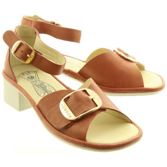 FLY Ladies Eken Heel Sandal In Raspberry