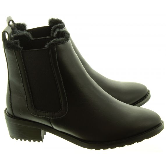 Ladies Ellin Heel Ankle Boots In Black