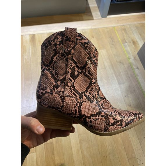 JAKE Ladies F51018 Western Snake Boots In Pink