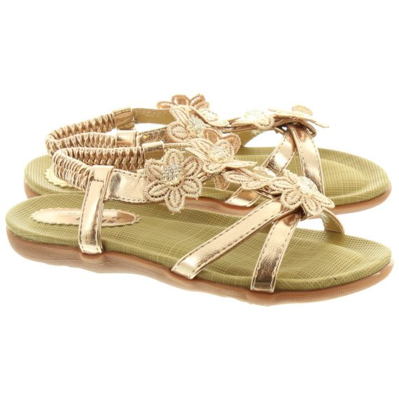 LUNAR Kids Fiji JCH002 Sandals In Rose Gold