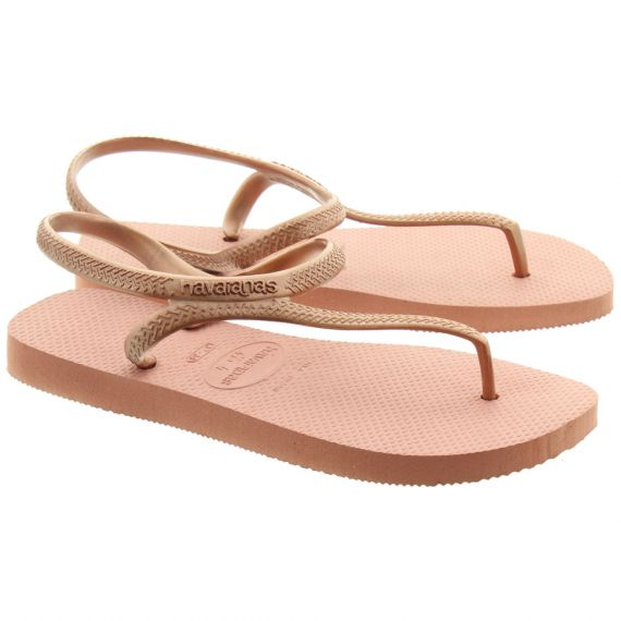 HAVAIANAS Ladies Flash Toe Post Sandals In Rose Pink