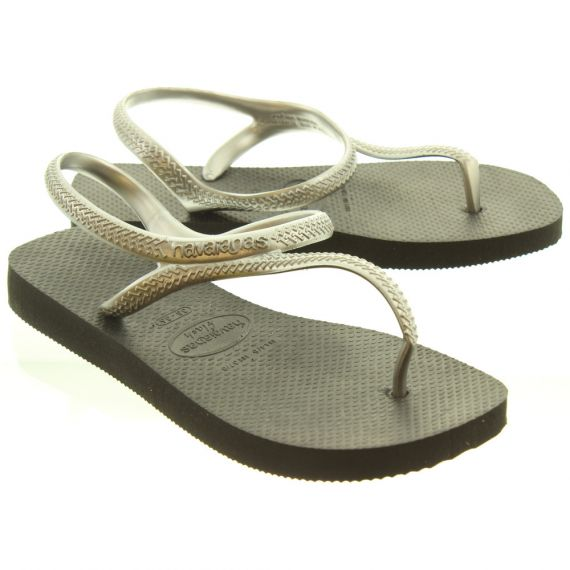 HAVAIANAS Ladies Flash Toe Post Sandals In Silver