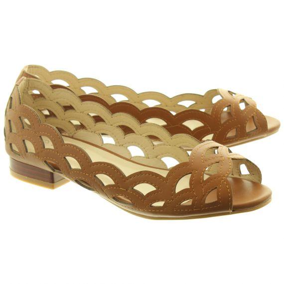 LUNAR Ladies FLC160 Devine Shoes In Tan