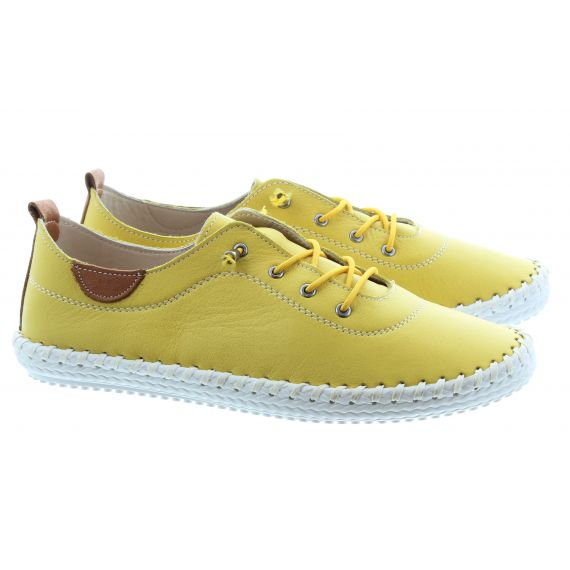 LUNAR Ladies FLE030 St Ives Shoes in Yellow