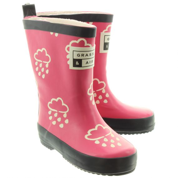 GRASS AND AIR Kids GA300 Colour Change Wellies In Pink