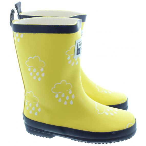 GRASS AND AIR Kids GA300 Colour Change Wellies In Yellow