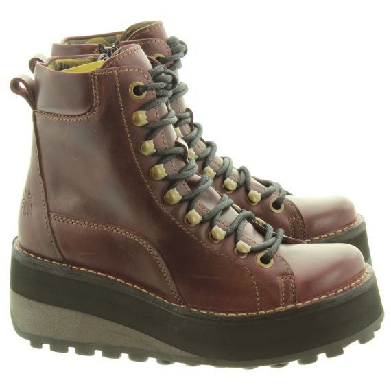 FLY Ladies Haku Wedge Hiker Boots In Purple