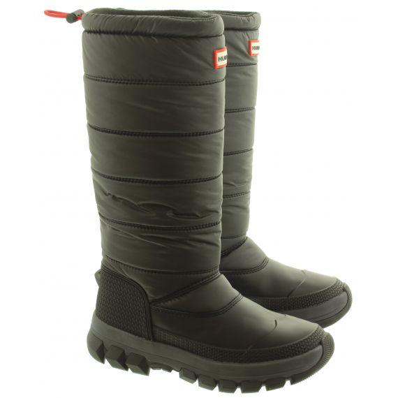 HUNTER Ladies Insulated Snow Tall Boots In Black