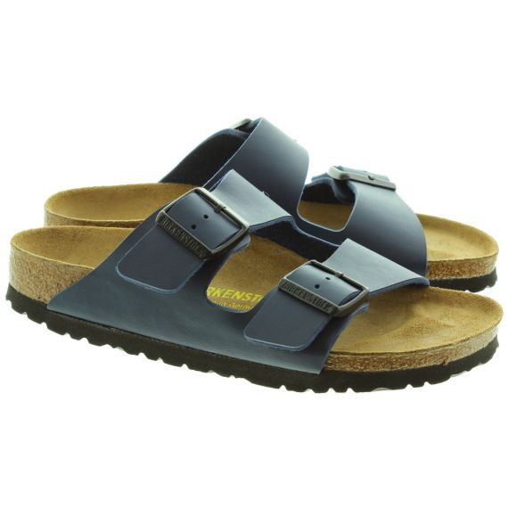BIRKENSTOCK Arizona 2 Bar Buckle Mule Sandals In Navy