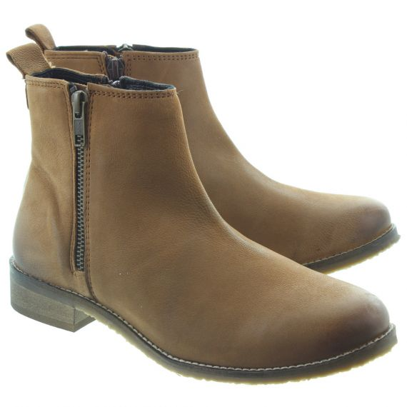 ADESSO Ladies Megan Ankle Boots In Tan