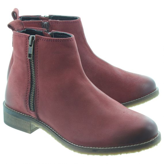 ADESSO Ladies Megan Ankle Boots In Wine