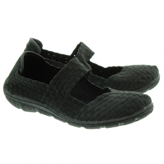 ADESSO Lottie Weave Bar Shoes In Black
