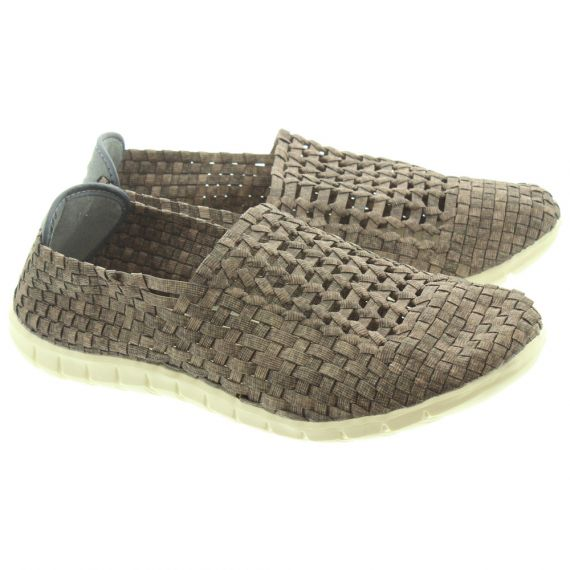 ADESSO Mens Jake Weave Shoes In Brown