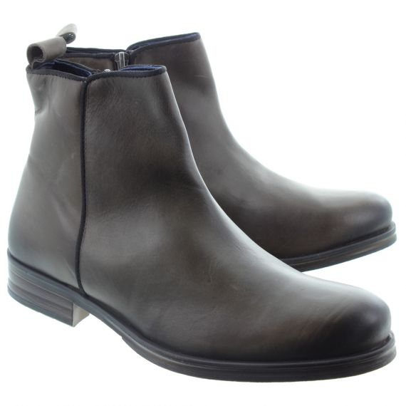 ADESSO Mens James Zip Boots In Charcoal