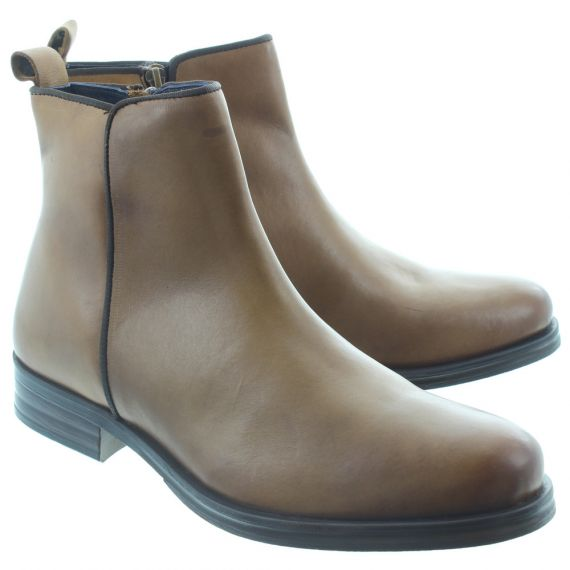 ADESSO Mens James Zip Boots In Tan