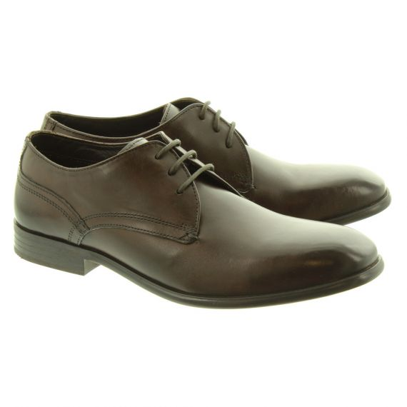 BASE Mens Page Lace Shoes In Brown