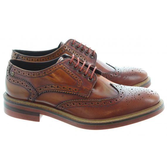 BASE Woburn Brogues in High Shine Tan