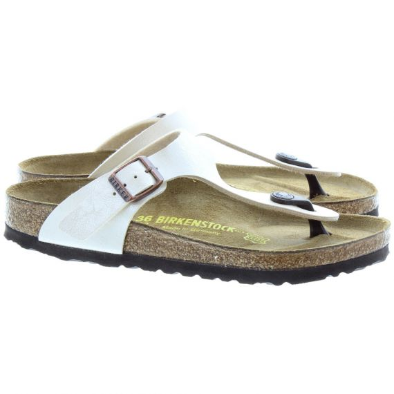 BIRKENSTOCK Gizeh Toe Post Sandals In Pearl