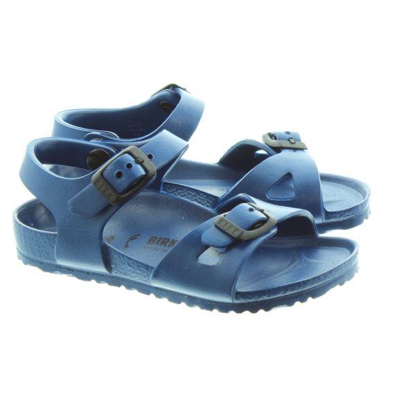 BIRKENSTOCK Kids Rio EVA Sandals in Navy