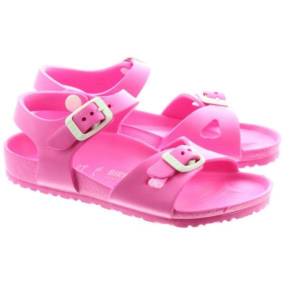BIRKENSTOCK Kids Rio EVA Sandals in Neon Pink