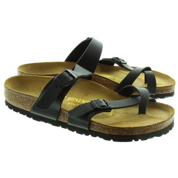 BIRKENSTOCK Mayari Toe Loop Sandals in Black