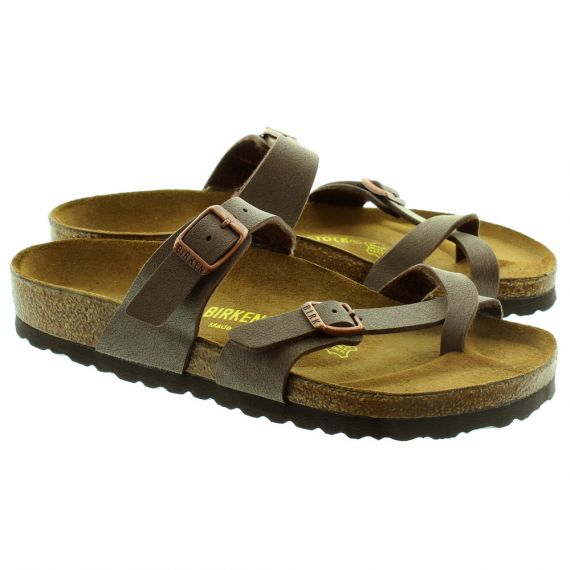 BIRKENSTOCK Mayari Toe Loop Sandals in Brown