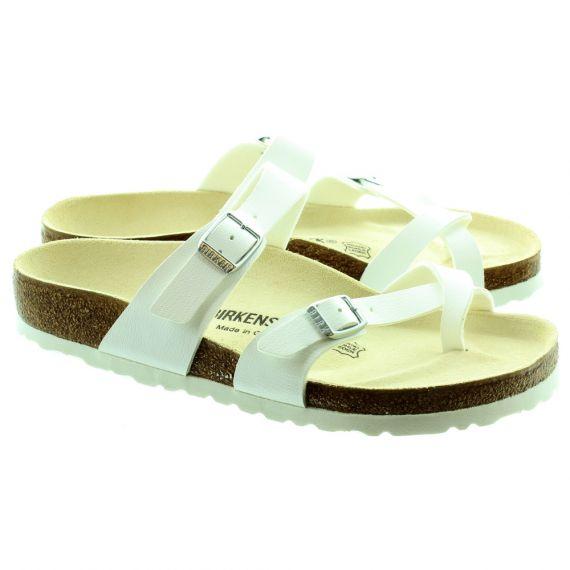 BIRKENSTOCK Mayari Toe Loop Sandals in White
