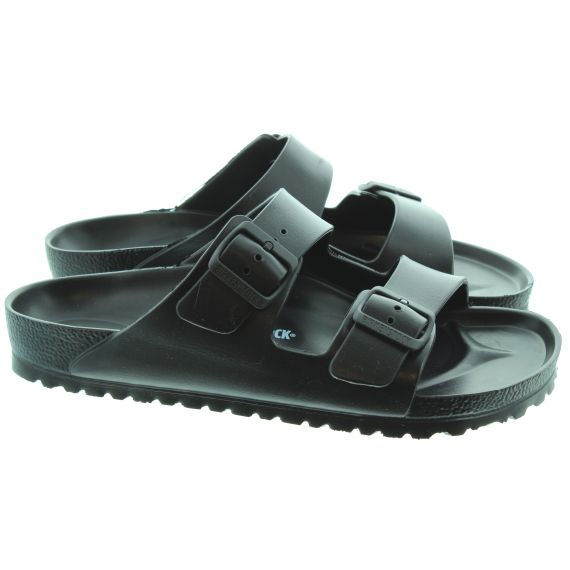 BIRKENSTOCK Mens Eva Arizona Sandals In Black
