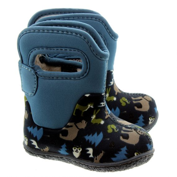 Baby Bogs Classic Woodland Baby Boots In Navy